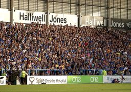 Fans in the South Stand